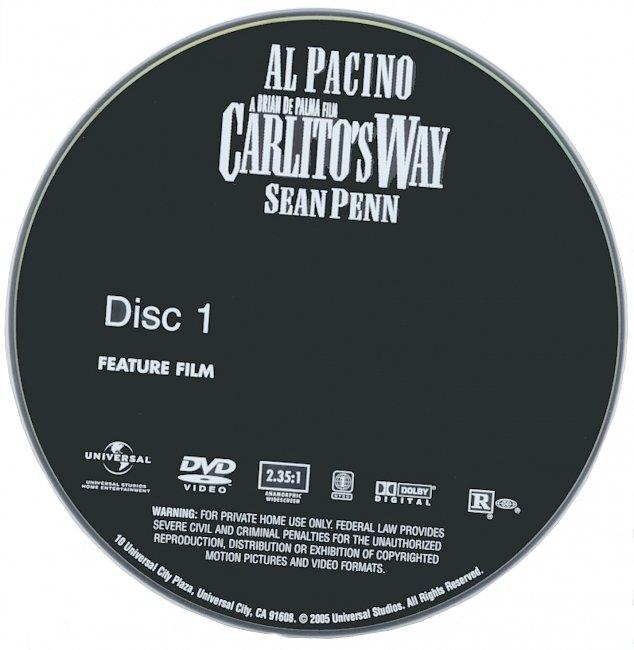 dvd cover Carlitos Way 1993 R1 Disc Dvd Cover