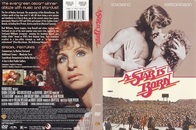 dvd cover A Star Is Born 1976 Dvd Cover
