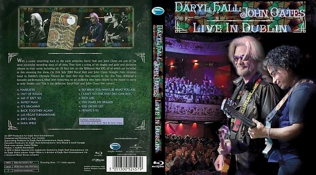 dvd cover Daryl Hall & John Oates - Live In Dublin 2015 Dvd Cover