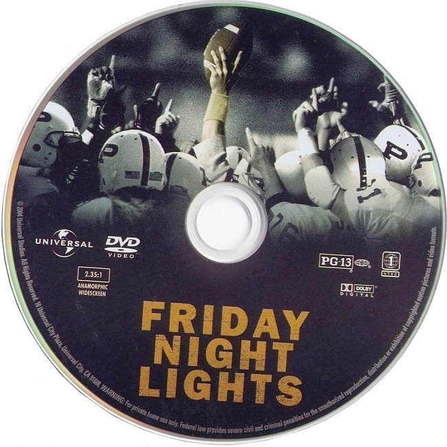 dvd cover Friday Night Lights 2004 R1 Disc Dvd Cover