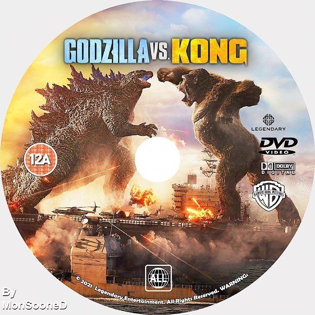 dvd cover Godzilla Vs Kong 2021 Dvd Disc Dvd Cover
