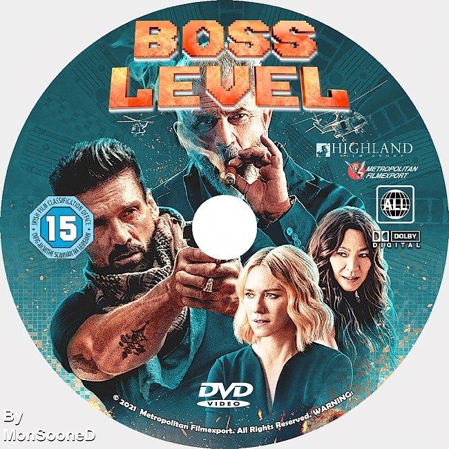 dvd cover Boss Level 2021 Dvd Disc Dvd Cover