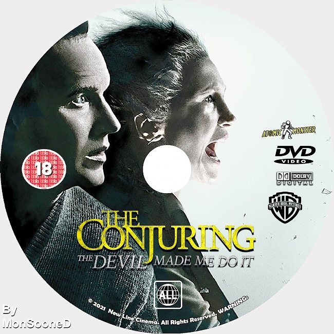 dvd cover The Conjuring 3 The Devil Made Me Do It 2021 Dvd Disc Dvd Cover