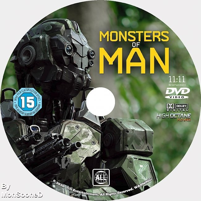 dvd cover Monsters Of Man 2020 Dvd Disc Dvd Cover