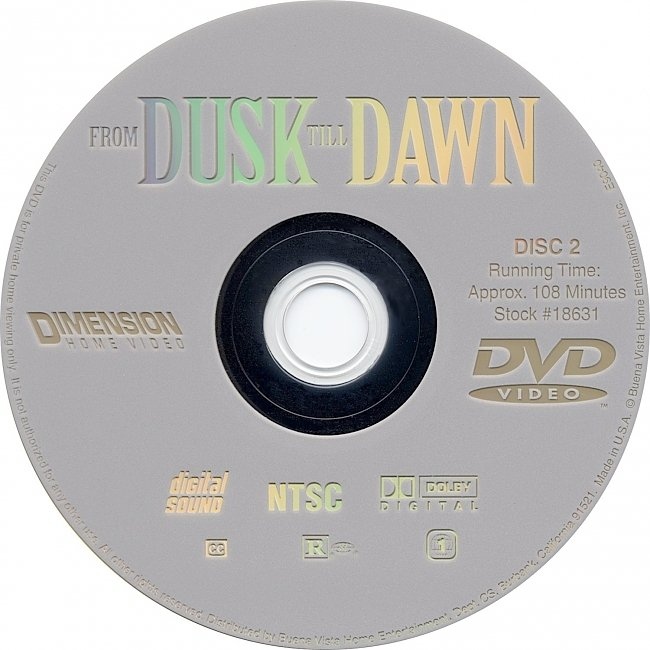 dvd cover From Dusk Till Dawn 1996 R1 Disc 2 Dvd Cover