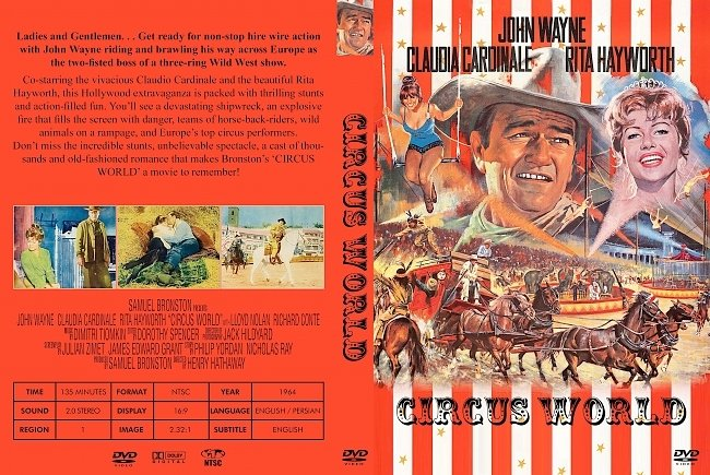 dvd cover Circus World 1964 Dvd Cover