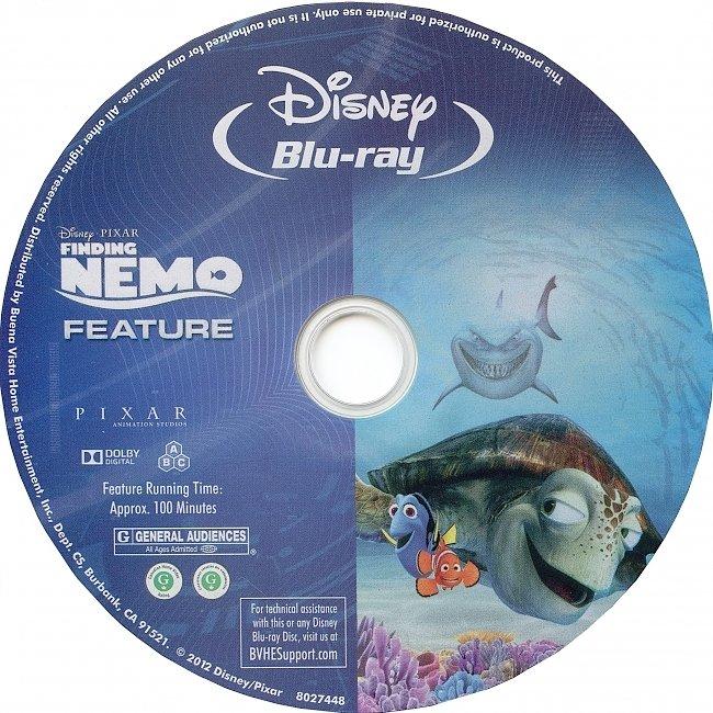 dvd cover Finding Nemo 2003 R1 Disc 1 Dvd Cover