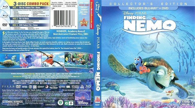 dvd cover Finding Nemo - Collectors Edition 2003 Dvd Cover