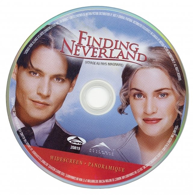 dvd cover Finding Neverland 2004 R1 Disc Dvd Cover