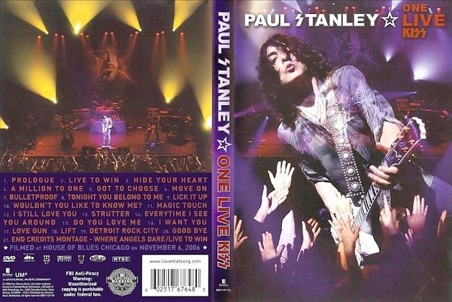 dvd cover Paul Stanley - One Live Kiss 2008 Dvd Cover