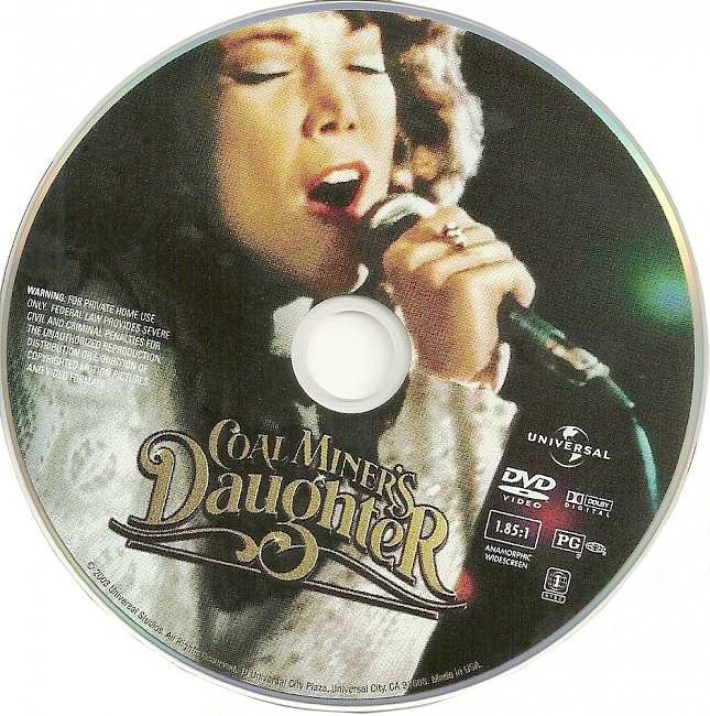 dvd cover Coal Miners Daughter 1980 R1 Disc Dvd Cover