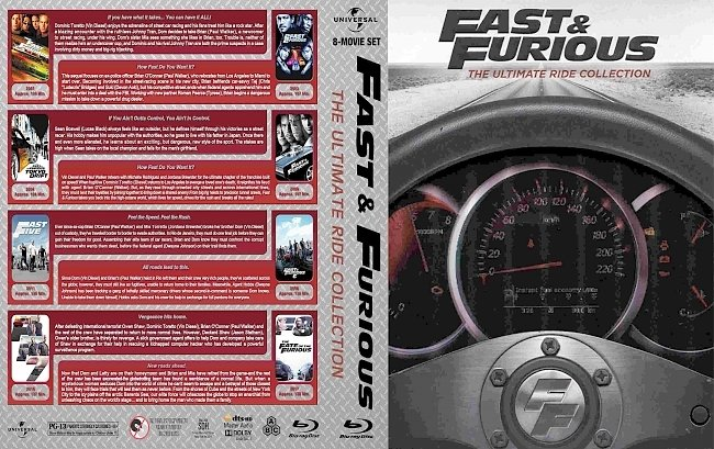 dvd cover Fast And Furious The Ultimate Ride Collection 2017 Dvd Cover