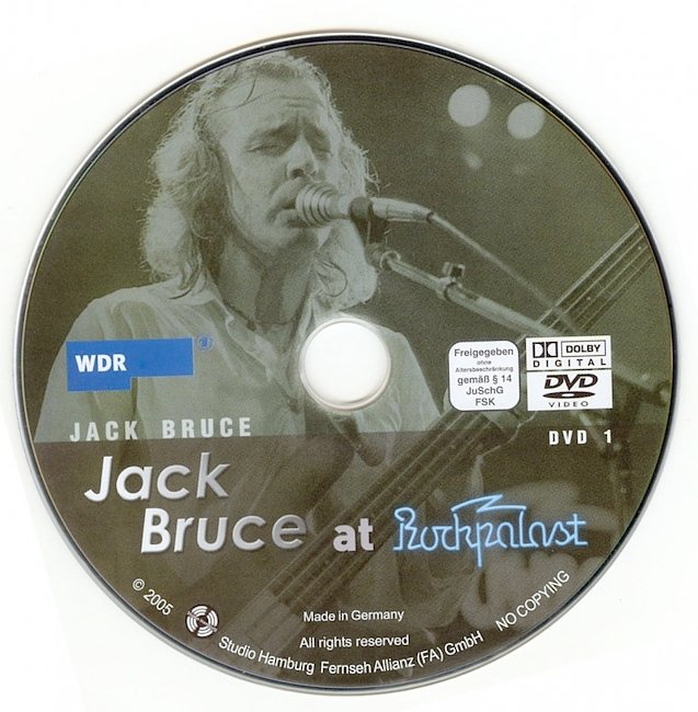 dvd cover Jack Bruce - At Rockpalast 2005 Dvd Cover