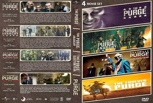 dvd cover The Purge Quilogy 2021 Dvd Cover