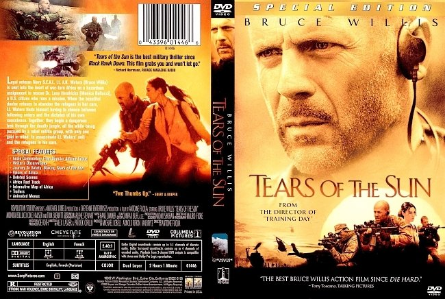 dvd cover Tears Of The Sun - Special Edition 2003 Dvd Cover