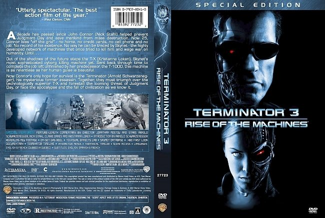 dvd cover Terminator 3 Rise Of The Machines - Special Edition 2003 Dvd Cover