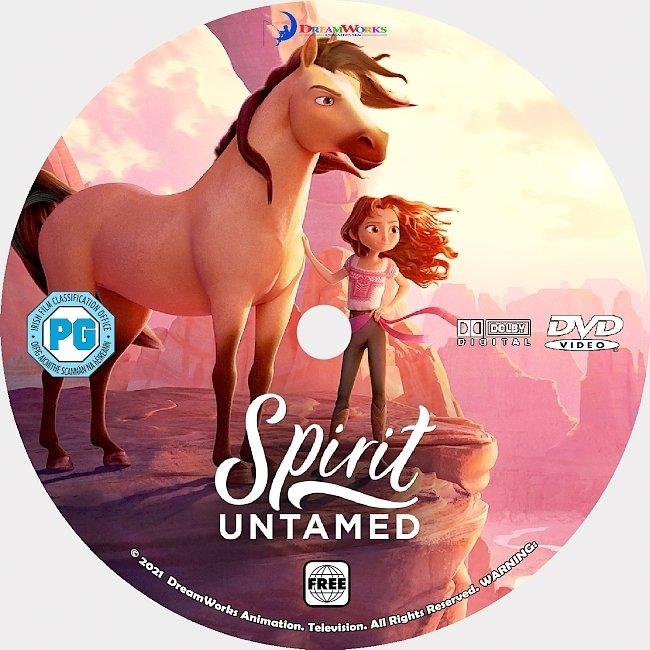 dvd cover Spirit Untamed 2021 Dvd Disc Dvd Cover