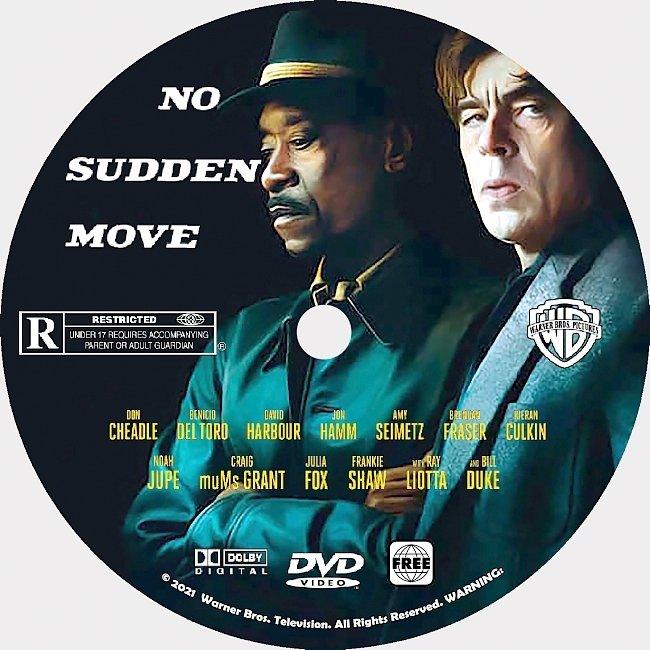 dvd cover No Sudden Move 2021 Dvd Disc Dvd Cover