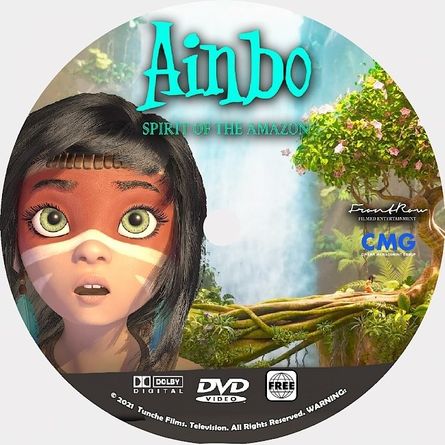 dvd cover Ainbo 2021 Dvd Disc Dvd Cover