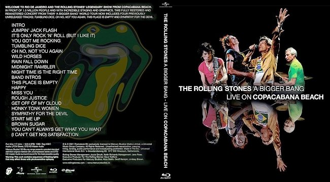 dvd cover The Rolling Stones - A Bigger Bang- Live On Copacabana Beach 2021 Dvd Cover