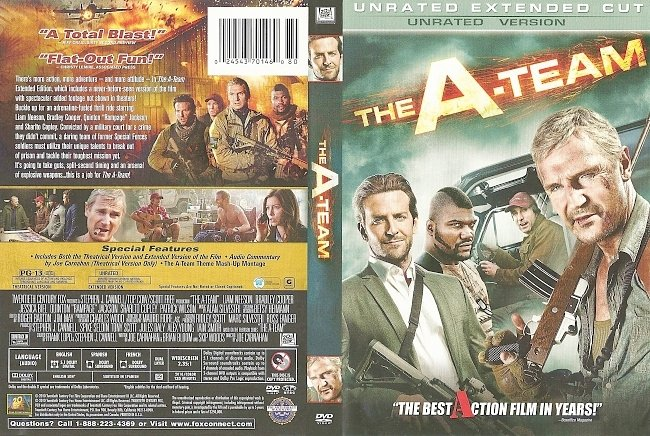 dvd cover The A-Team - Unrated Extended Cut 2010 Dvd Cover