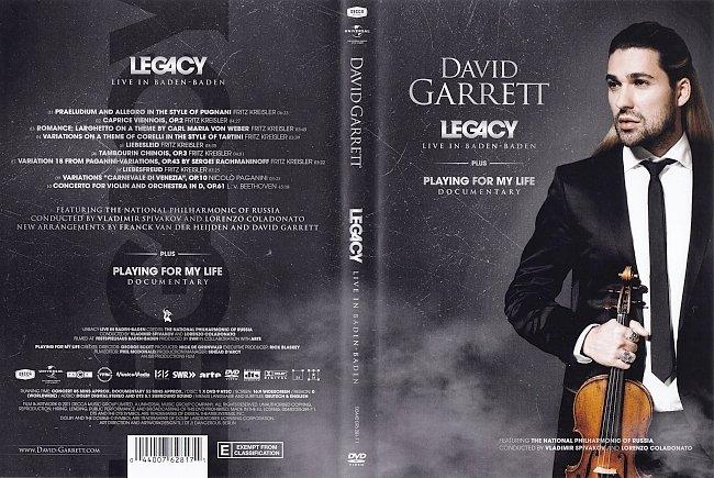 dvd cover David Garrett - Legacy; Live In Baden-Baden 2011 CLASSICAL Dvd Cover