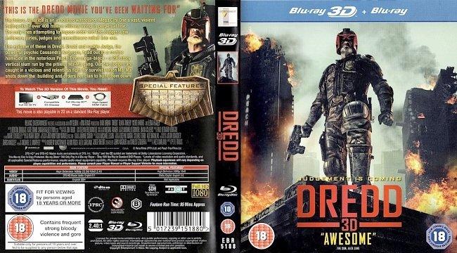 dvd cover Dredd - Derdd 3D 2013 Dvd Cover