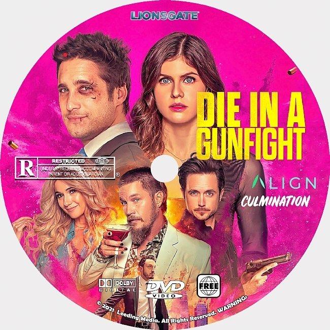 dvd cover Die In A Gunfight 2021 Dvd Disc Dvd Cover