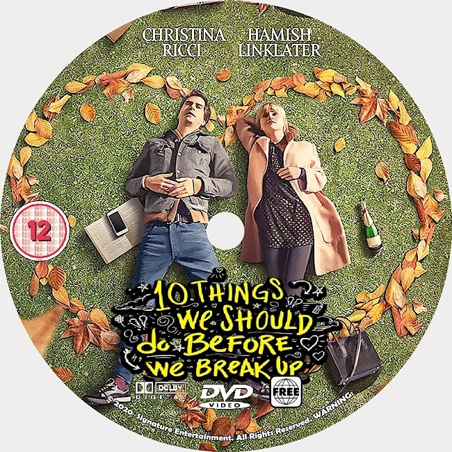 dvd cover 10 Things We Should Do Before We Break Up 2020 Dvd Disc Dvd Cover