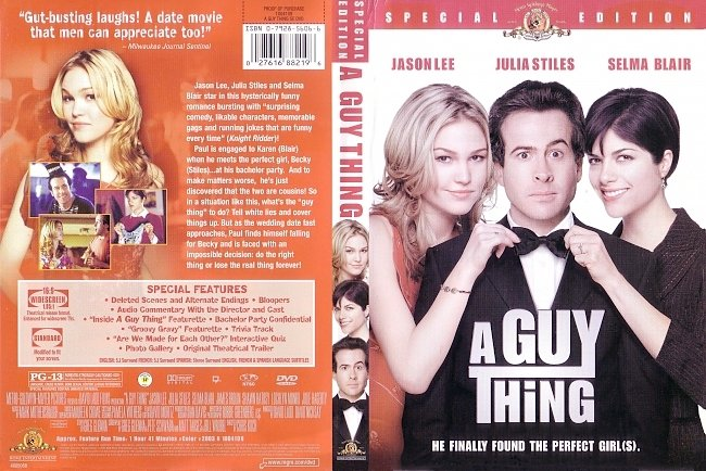 dvd cover A Guy Thing 2003 Dvd Cover