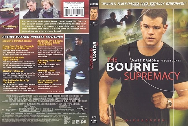 dvd cover The Bourne Supremacy 2004 Dvd Cover