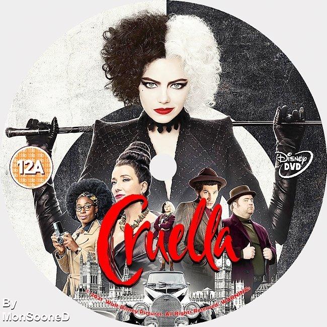 dvd cover Cruella 2021 Dvd Disc Dvd Cover