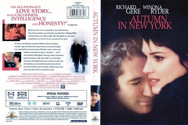 dvd cover Autumn In New York 2000 Dvd Cover