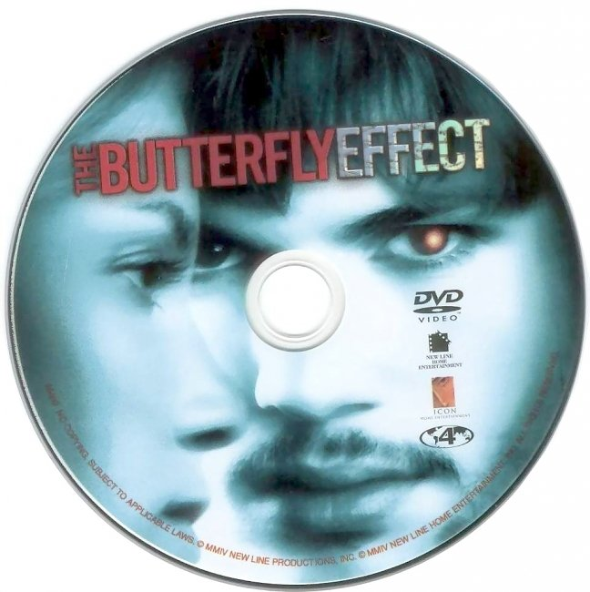 dvd cover The Butterfly Effect 2004 Disc Label Dvd Cover