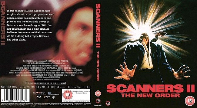 dvd cover Scanners II: The New Order 1991 Dvd Cover