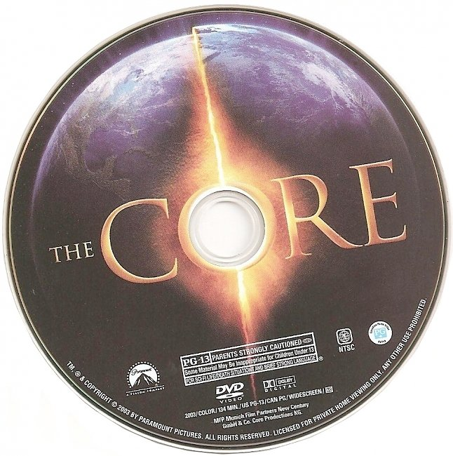 dvd cover The Core 2003 R1 Disc Dvd Cover