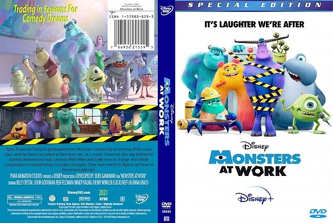 dvd cover Monsters At Work 2021 Dvd Cover