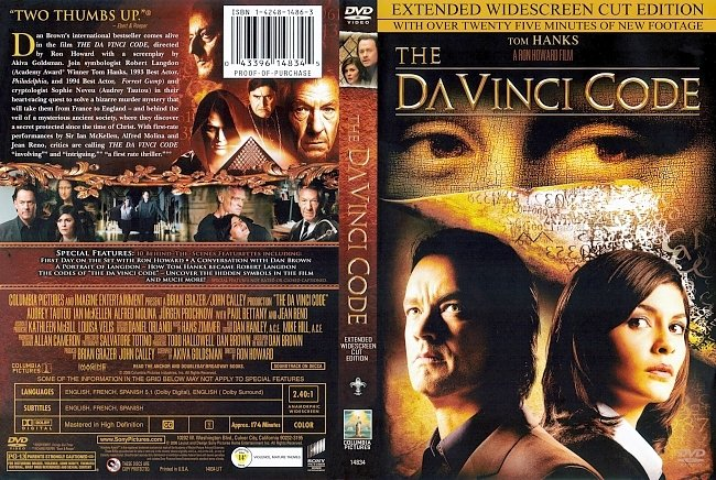 dvd cover The Da Vinci Code - Extended Cut 2006 Dvd Cover