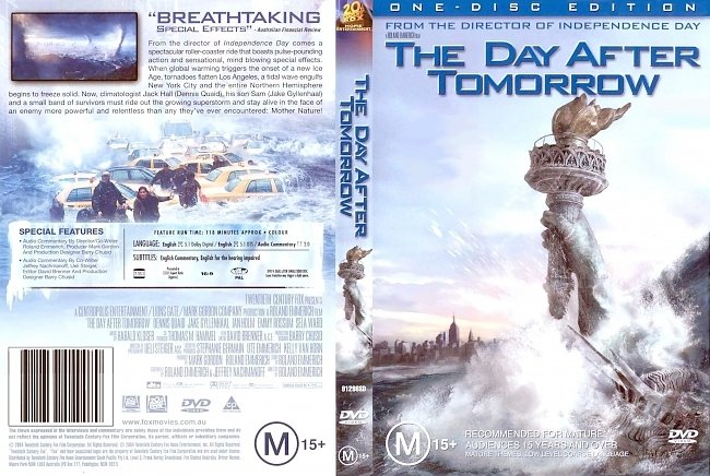 dvd cover The Day After Tomorrow 2004 Dvd Cover