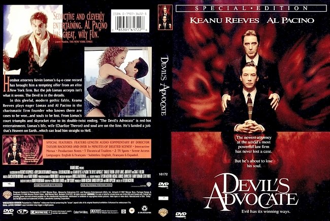 dvd cover Devils Advocate - Special Edition 1997 Dvd Cover