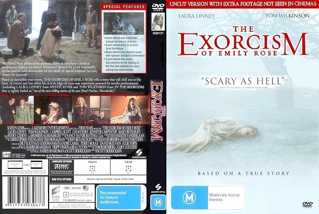 dvd cover The Exorcism Of Emily Rose - Uncut Version 2005 Dvd Cover