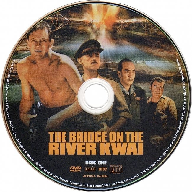 dvd cover The Bridge On The River Kwai 1957 R1 Disc 1 Dvd Cover