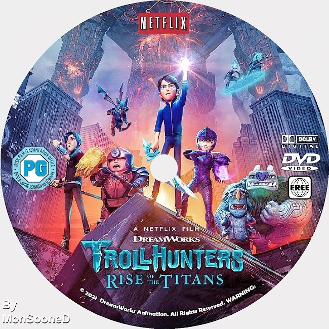 dvd cover Troll Hunter Rise Of The Titans 2021 Dvd Disc Dvd Cover