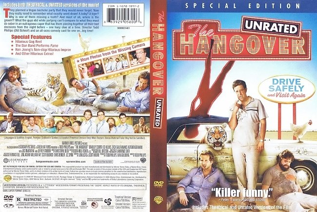 dvd cover The Hangover - Special Edition 2009 Dvd Cover