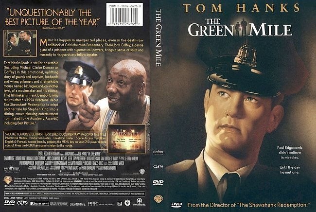 dvd cover The Green Mile 1999 Dvd Cover