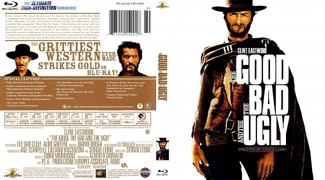 dvd cover The Good The Bad And The Ugly 1966 Dvd Cover