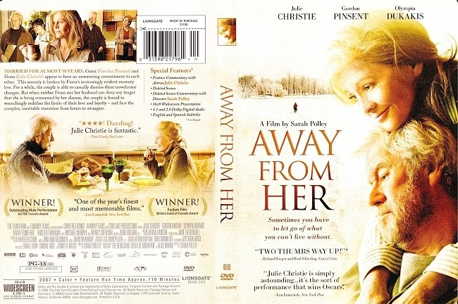 dvd cover Away From Her 2006 R1 Dvd Cover