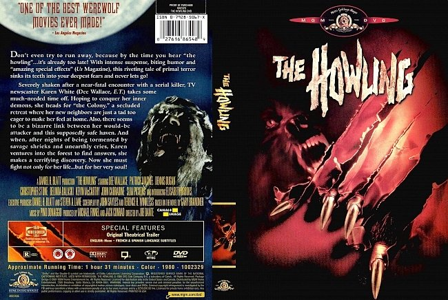 dvd cover The Howling 1981 Dvd Cover