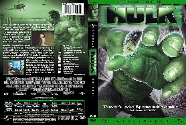 dvd cover Hulk 2003 Dvd Cover