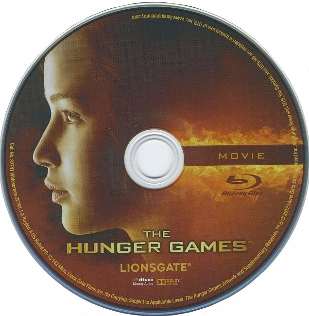 dvd cover The Hunger Games 2012 R1 Disc 1 Dvd Cover